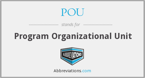 POU - Program Organizational Unit