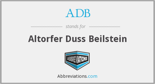 ADB - Altorfer Duss Beilstein