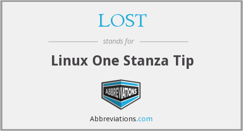LOST - Linux One Stanza Tip