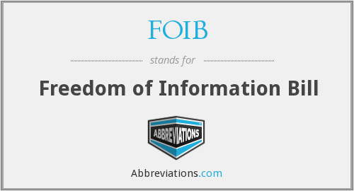 What does FOIB stand for?
