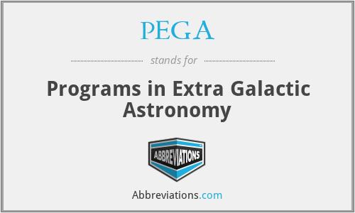 PEGA - Programs in Extra Galactic Astronomy