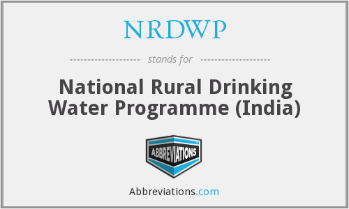 What does NRDWP stand for?