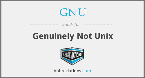 GNU - Genuinely Not Unix