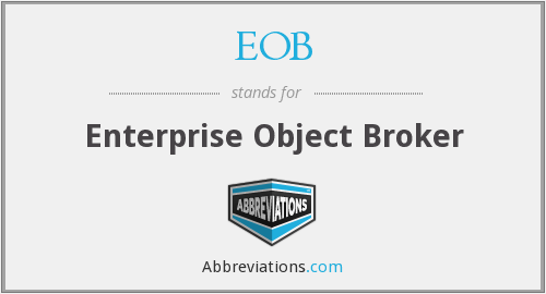 EOB - Enterprise Object Broker