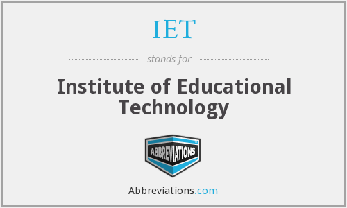 IET - Institute of Educational Technology