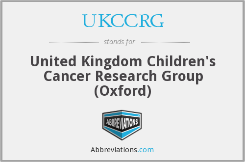 What does UKCCRG stand for?