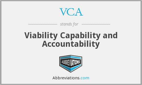 VCA - viability capability and accountability