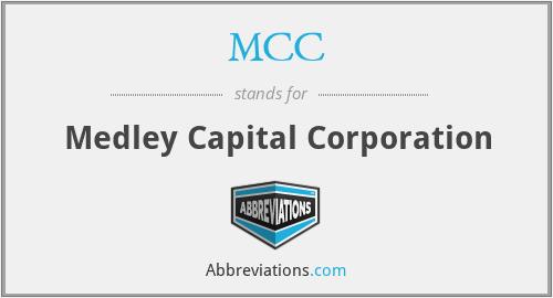 MCC - Medley Capital Corporation