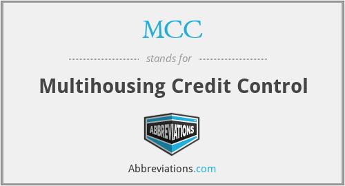 MCC - Multihousing Credit Control