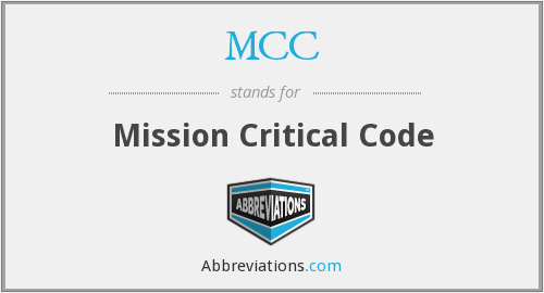 What does MCC stand for?