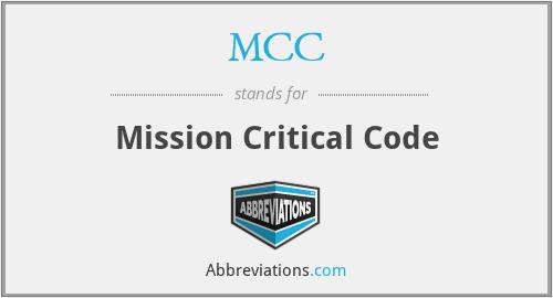 MCC - Mission Critical Code