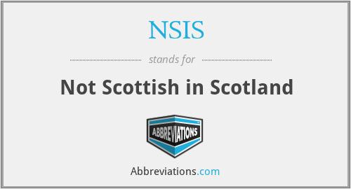 NSIS - Not Scottish in Scotland