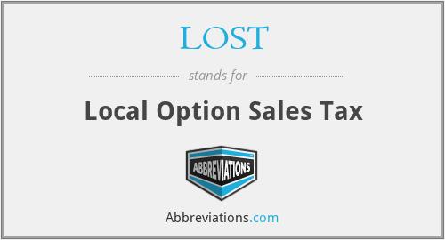 LOST - Local Option Sales Tax