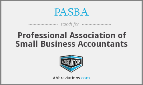 PASBA - Professional Association of Small Business Accountants