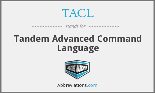 TACL - Tandem Advanced Command Language