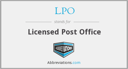 LPO - Licensed Post Office