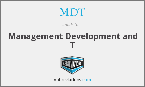 MDT - Management Development and T
