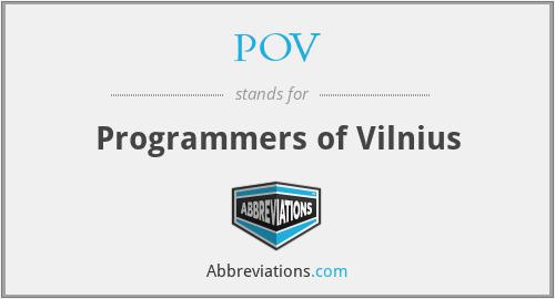 POV - Programmers of Vilnius