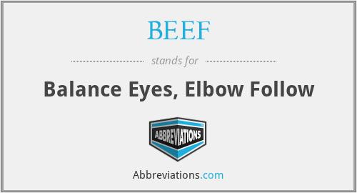 BEEF - Balance Eyes, Elbow Follow