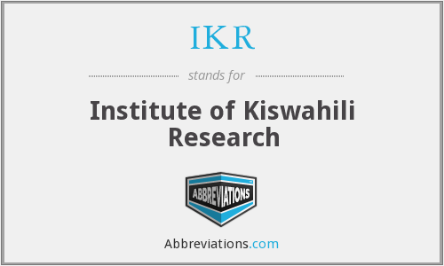 IKR - Institute of Kiswahili Research