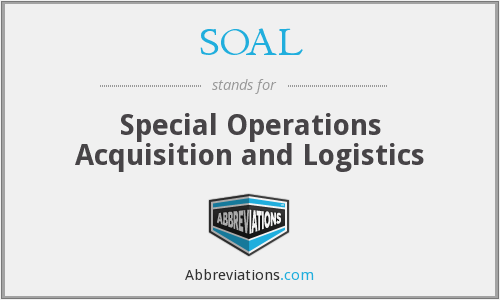 SOAL - Special Operations Acquisition and Logistics