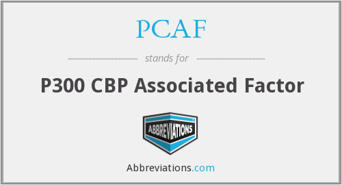 What does PCAF stand for?