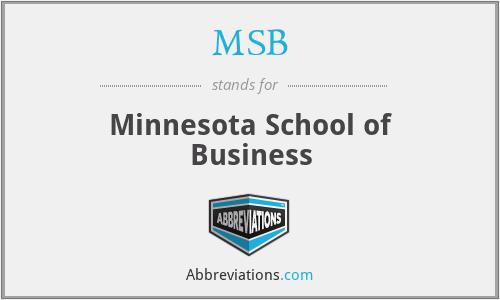 MSB - Minnesota School of Business