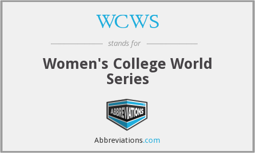 What does WCWS stand for?