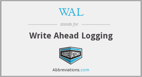 WAL - Write Ahead Logging
