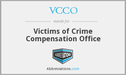 VCCO - Victims of Crime Compensation Office