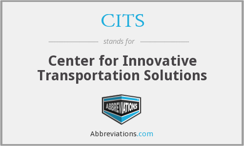 CITS - Center for Innovative Transportation Solutions