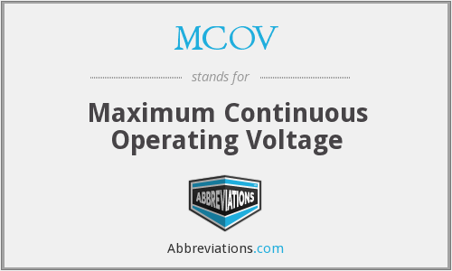 What does MCOV stand for?