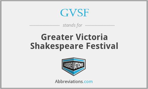 GVSF - Greater Victoria Shakespeare Festival