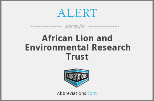 ALERT - African Lion and Environmental Research Trust