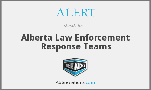 ALERT - Alberta Law Enforcement Response Teams