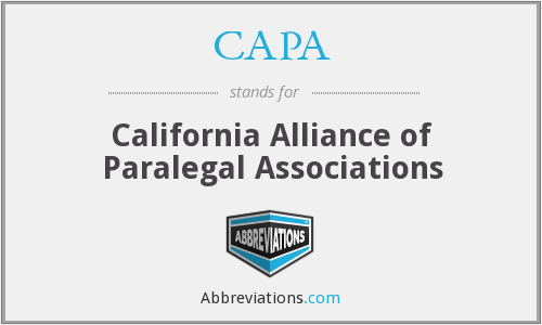 CAPA - California Alliance of Paralegal Associations