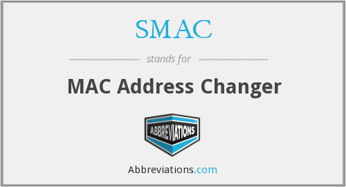 SMAC - MAC Address Changer