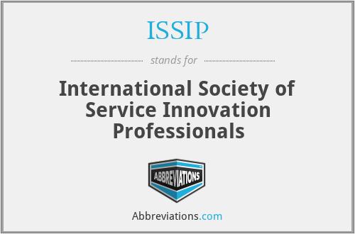 ISSIP - International Society of Service Innovation Professionals