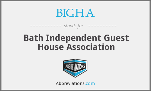 What does BIGHA stand for?