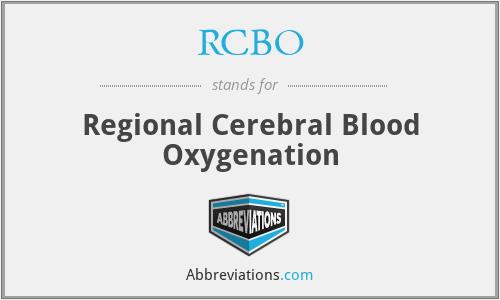 RCBO - Regional Cerebral Blood Oxygenation