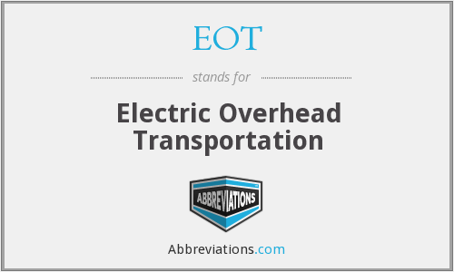 EOT - Electric Overhead Transportation