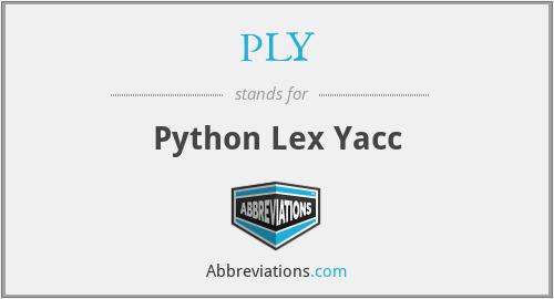 PLY - Python Lex Yacc
