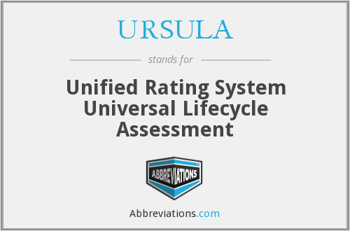 URSULA - Unified Rating System Universal Lifecycle Assessment