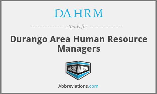 DAHRM - Durango Area Human Resource Managers