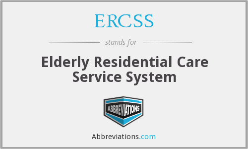 What does ERCSS stand for?