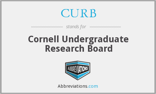 CURB - Cornell Undergraduate Research Board