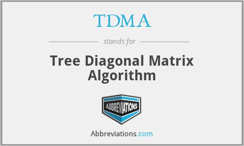 TDMA - Tree Diagonal Matrix Algorithm