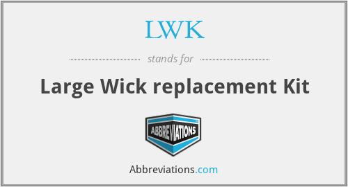 LWK - Large Wick replacement Kit