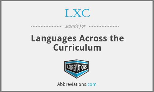 LXC - Languages Across the Curriculum
