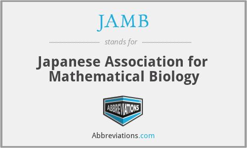 JAMB - Japanese Association for Mathematical Biology